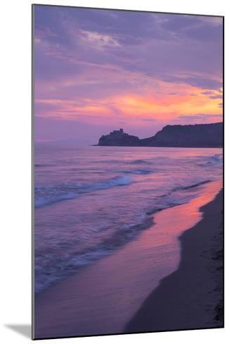Castiglione Della Pescaia, Roccamare Beach at Sunset, Grosseto, Tuscany, Italy, Europe- John-Mounted Photographic Print