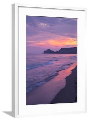 Castiglione Della Pescaia, Roccamare Beach at Sunset, Grosseto, Tuscany, Italy, Europe- John-Framed Art Print
