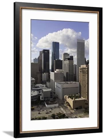 Downtown City Skyline, Houston, Texas, United States of America, North America-Gavin-Framed Art Print