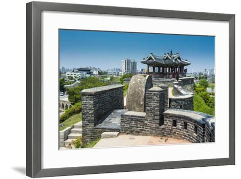 Huge Stone Walls around the Fortress of Suwon, UNESCO World Heritage Site, South Korea, Asia-Michael-Framed Art Print