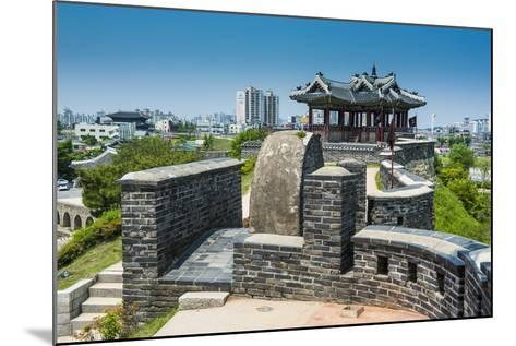 Huge Stone Walls around the Fortress of Suwon, UNESCO World Heritage Site, South Korea, Asia-Michael-Mounted Photographic Print