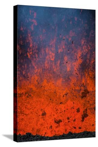 Active Lava Eruption on the Tolbachik Volcano, Kamchatka, Russia, Eurasia-Michael-Stretched Canvas Print