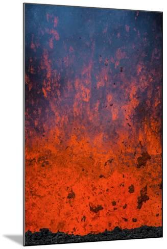Active Lava Eruption on the Tolbachik Volcano, Kamchatka, Russia, Eurasia-Michael-Mounted Photographic Print
