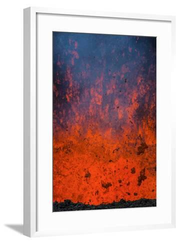 Active Lava Eruption on the Tolbachik Volcano, Kamchatka, Russia, Eurasia-Michael-Framed Art Print