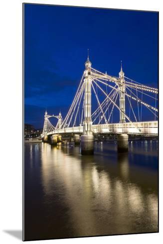 Albert Bridge and River Thames at Night, Chelsea, London, England, United Kingdom, Europe-Stuart-Mounted Photographic Print