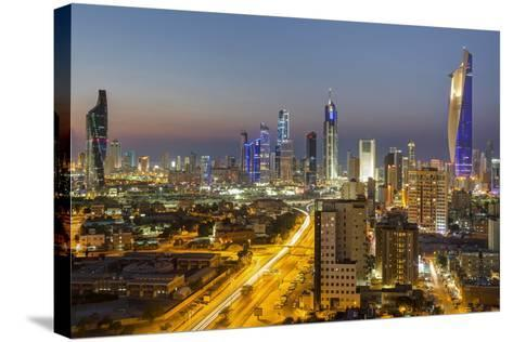 Elevated View of the Modern City Skyline and Central Business District-Gavin-Stretched Canvas Print