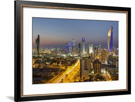 Elevated View of the Modern City Skyline and Central Business District-Gavin-Framed Art Print