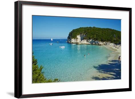 Vrika Beach, Antipaxos, Antipaxi, Ionian Islands, Greek Islands, Greece, Europe-Tuul-Framed Art Print