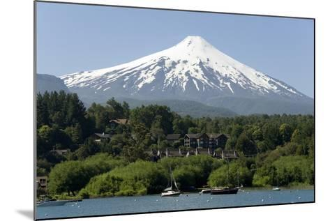 Volcan Villarrica and Lao Villarrica at Pucon, Lakes District, Southern Chile, South America-Tony-Mounted Photographic Print