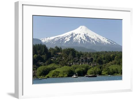 Volcan Villarrica and Lao Villarrica at Pucon, Lakes District, Southern Chile, South America-Tony-Framed Art Print
