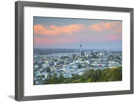 View of Auckland from Mount Eden at Sunset, Auckland, North Island, New Zealand, Pacific- Ian-Framed Art Print