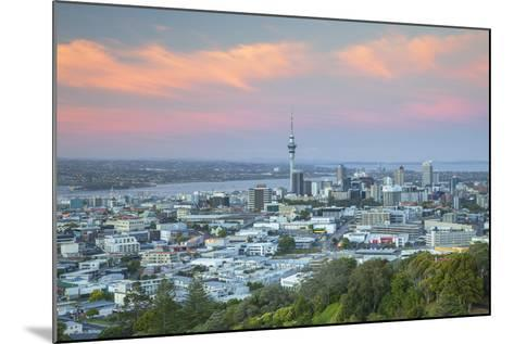 View of Auckland from Mount Eden at Sunset, Auckland, North Island, New Zealand, Pacific- Ian-Mounted Photographic Print