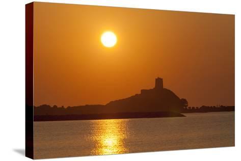 Nora Sunrise over Harbour, Near Pula, Cagliari Province, Sardinia, Italy, Mediterranean, Europe-John Miller-Stretched Canvas Print
