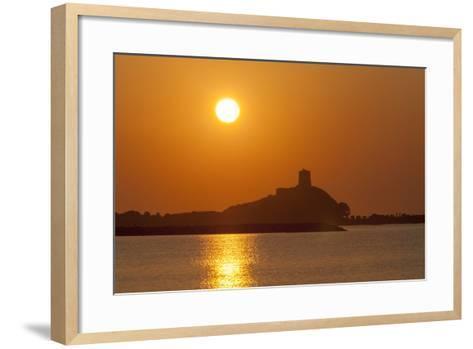 Nora Sunrise over Harbour, Near Pula, Cagliari Province, Sardinia, Italy, Mediterranean, Europe-John Miller-Framed Art Print