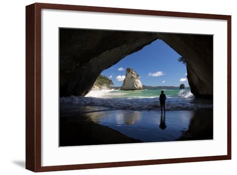 Cathedral Cove, Hahei, Coromandel Peninsula, Waikato, North Island, New Zealand, Pacific-Stuart-Framed Art Print
