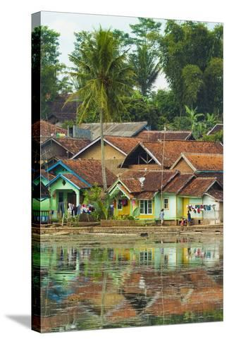 Traditional Homes and Situ Cangkuang Lake at This Village known for its Hindu Temple- Rob-Stretched Canvas Print