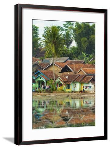 Traditional Homes and Situ Cangkuang Lake at This Village known for its Hindu Temple- Rob-Framed Art Print