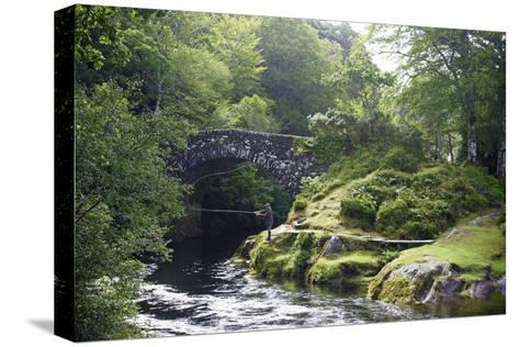 Fly Fishing on the River Shiel, Near Acharacle, Invernesshire, Scotland, United Kingdom, Europe-Duncan Maxwell-Stretched Canvas Print