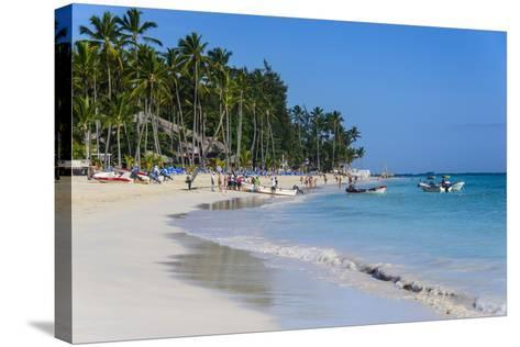 Beach of Bavaro, Punta Cana, Dominican Republic, West Indies, Caribbean, Central America-Michael-Stretched Canvas Print