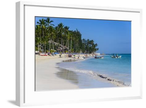Beach of Bavaro, Punta Cana, Dominican Republic, West Indies, Caribbean, Central America-Michael-Framed Art Print