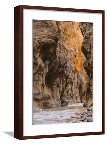 Virgin River Narrows, Zion National Park, Utah, United States of America, North America-Gary-Framed Art Print