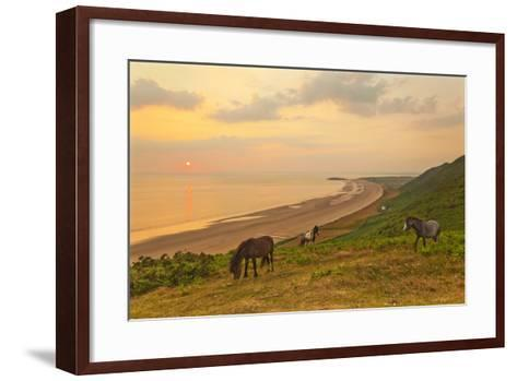 Rhossili Bay, Gower Peninsula, Wales, United Kingdom, Europe-Billy-Framed Art Print