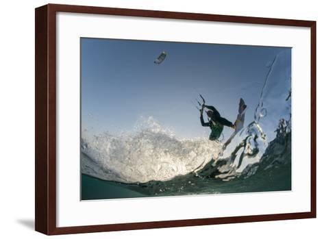 Kite Surfing on Red Sea Coast of Egypt, North Africa, Africa-Louise-Framed Art Print