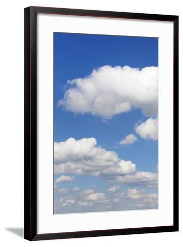 Cumulus Clouds, Blue Sky, Summer, Germany, Europe-Markus-Framed Art Print