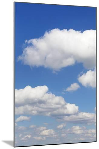 Cumulus Clouds, Blue Sky, Summer, Germany, Europe-Markus-Mounted Photographic Print