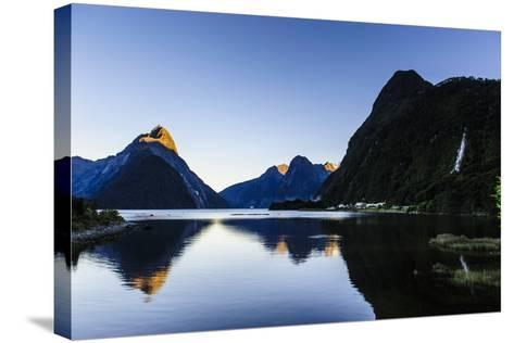 Early Morning Light in Milford Sound-Michael-Stretched Canvas Print
