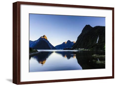 Early Morning Light in Milford Sound-Michael-Framed Art Print