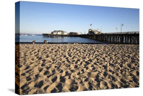 Beach and Stearns Wharf-Stuart-Stretched Canvas Print