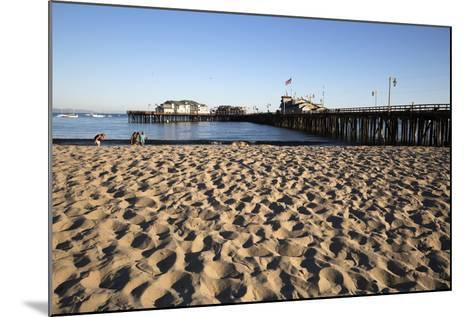 Beach and Stearns Wharf-Stuart-Mounted Photographic Print