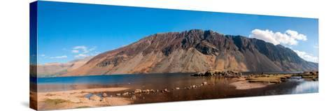 The Screes and Wastwater-James Emmerson-Stretched Canvas Print