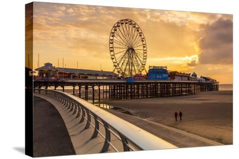 The Pier, Blackpool, Lancashire, England, United Kingdom, Europe-Billy-Stretched Canvas Print