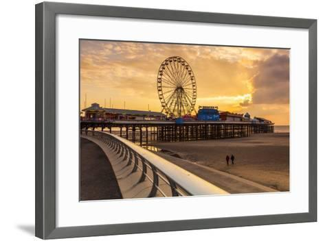 The Pier, Blackpool, Lancashire, England, United Kingdom, Europe-Billy-Framed Art Print