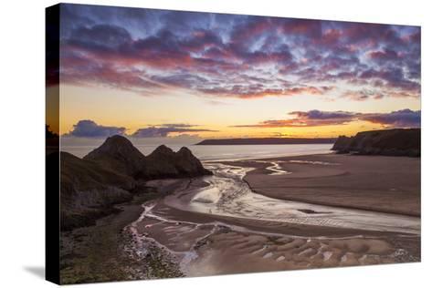 Three Cliffs Bay, Gower, Wales, United Kingdom, Europe-Billy-Stretched Canvas Print