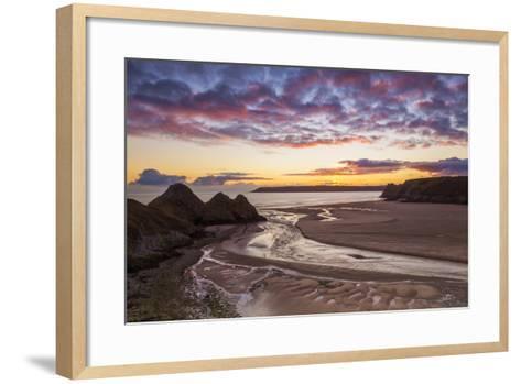 Three Cliffs Bay, Gower, Wales, United Kingdom, Europe-Billy-Framed Art Print