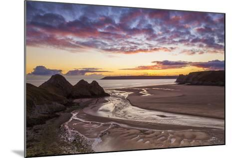 Three Cliffs Bay, Gower, Wales, United Kingdom, Europe-Billy-Mounted Photographic Print