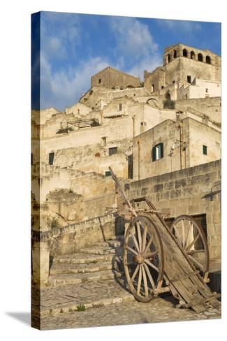 Old Cart in the Sassi Area of Matera, Basilicata, Italy, Europe-Martin-Stretched Canvas Print