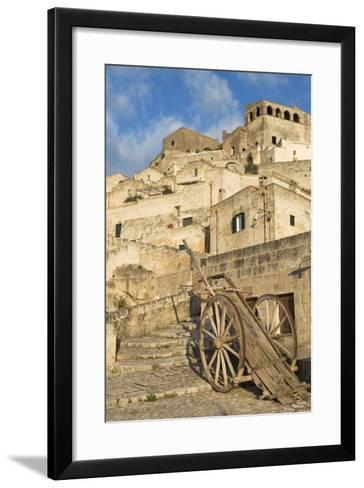 Old Cart in the Sassi Area of Matera, Basilicata, Italy, Europe-Martin-Framed Art Print