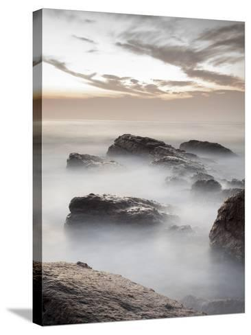 Long Exposure of Surf and Rocks at Sunrise, Tangalle, Sri Lanka, Indian Ocean, Asia-Charlie Harding-Stretched Canvas Print