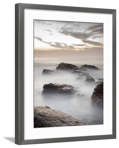 Long Exposure of Surf and Rocks at Sunrise, Tangalle, Sri Lanka, Indian Ocean, Asia-Charlie Harding-Framed Art Print