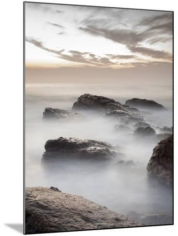 Long Exposure of Surf and Rocks at Sunrise, Tangalle, Sri Lanka, Indian Ocean, Asia-Charlie Harding-Mounted Photographic Print