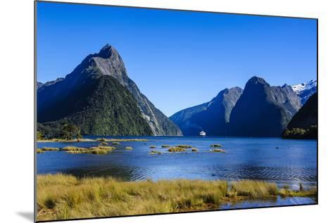 Cruise Ship Passing Through Milford Sound-Michael-Mounted Photographic Print