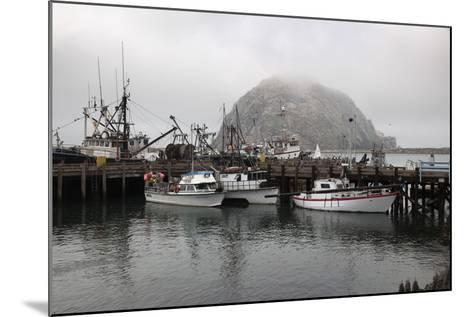 Morro Rock in Fog-Stuart-Mounted Photographic Print