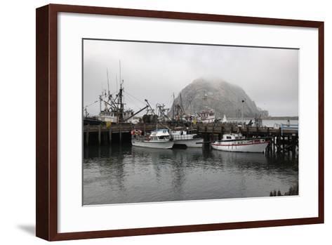 Morro Rock in Fog-Stuart-Framed Art Print