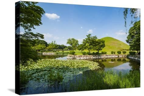 Tumuli Park with its Tombs from the Shilla Monarchs-Michael-Stretched Canvas Print