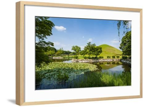 Tumuli Park with its Tombs from the Shilla Monarchs-Michael-Framed Art Print