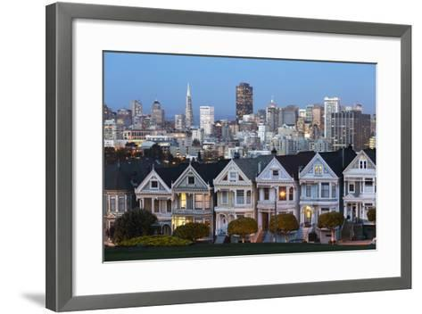 The Painted Ladies and the City at Dusk-Stuart-Framed Art Print